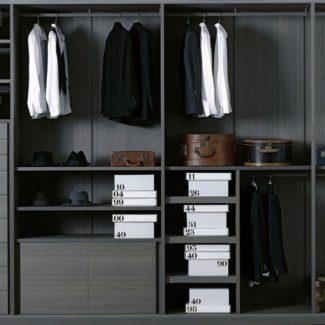 Collection dressing Storage de Porro par Piero Lissoni. Actualité Claude Cartier décoration architecte d'intérieur à Lyon.