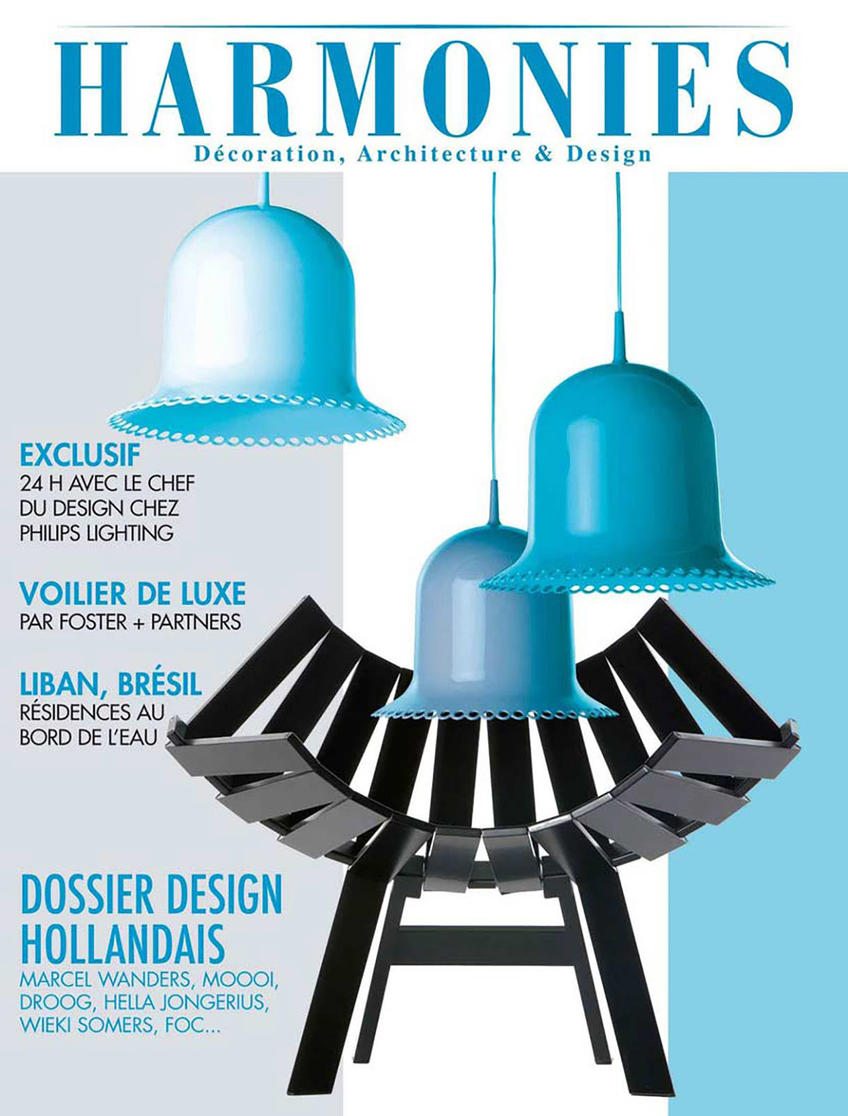 Parution presse HARMONIES 2012 Claude Cartier décoration architecte d'intérieur à Lyon.