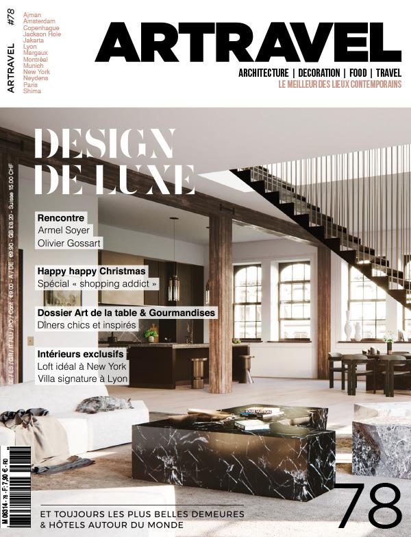 Parution presse ART TRAVEL 2017 Claude Cartier décoration architecte d'intérieur à Lyon.