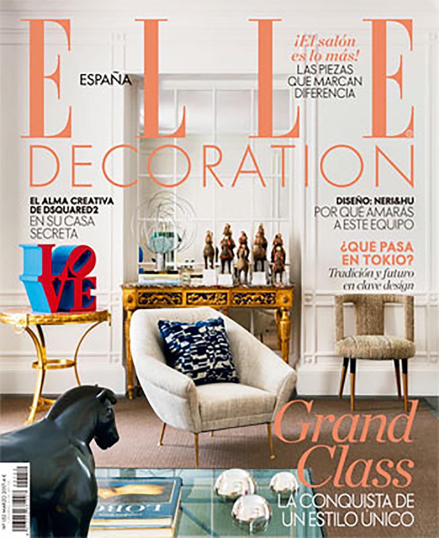 Parution presse ELLE DECORATION 2017 Claude Cartier décoration architecte d'intérieur à Lyon.
