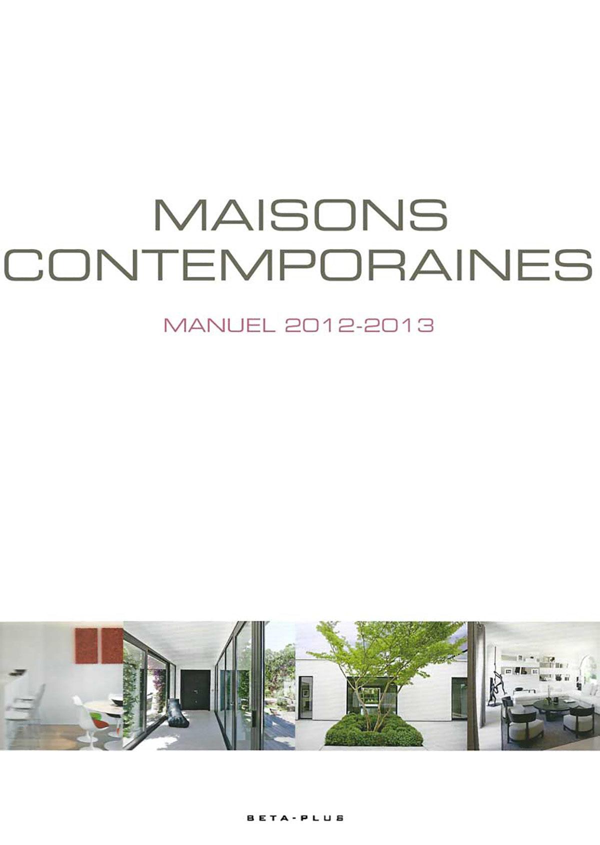 Parution presse MAISONS CONTEMPORAINES 2012 Claude Cartier décoration architecte d'intérieur à Lyon.