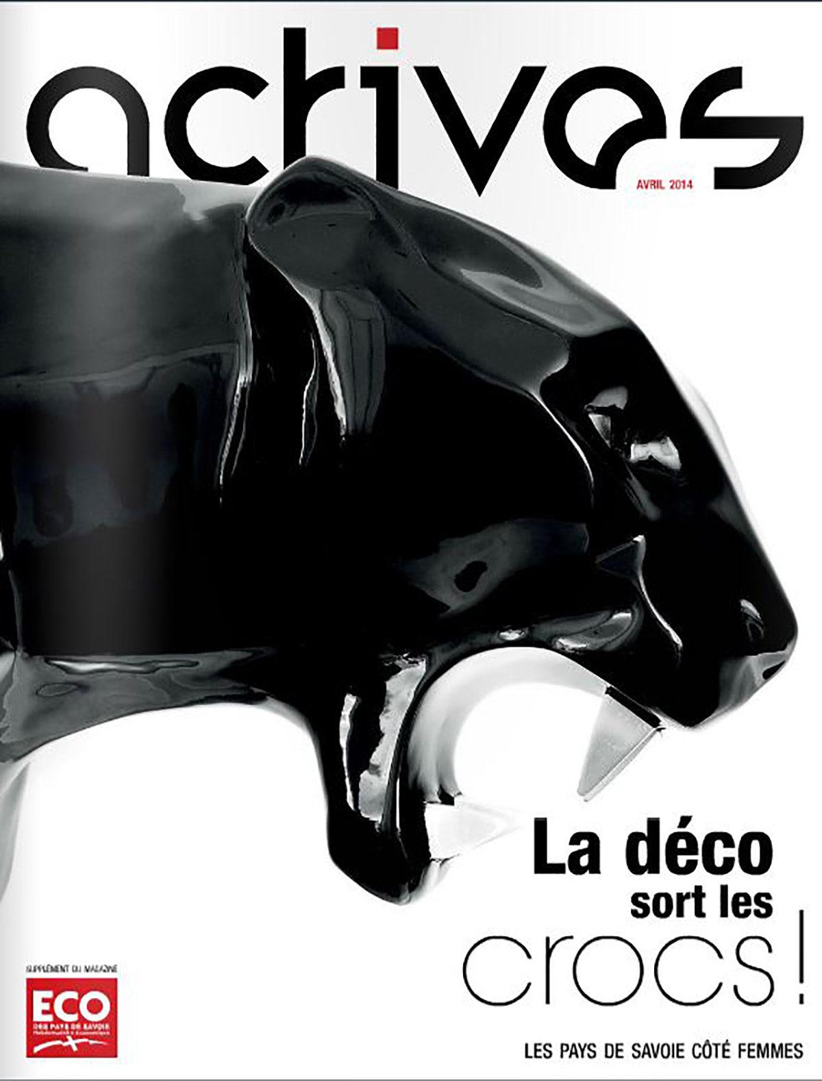 Parution presse ACTIVES 2014 Claude Cartier décoration architecte d'intérieur à Lyon.