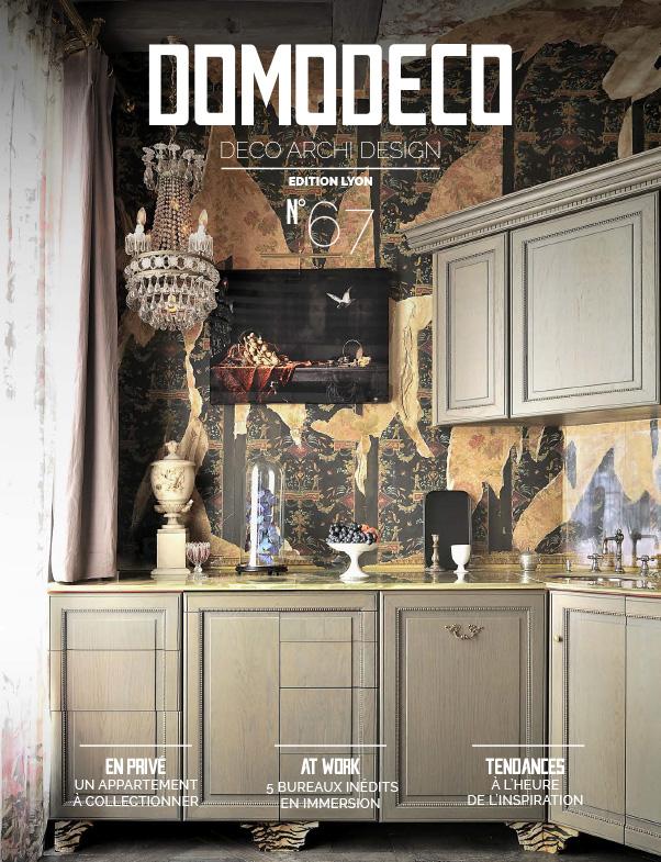 Parution presse DOMODECO 2016 Claude Cartier décoration architecte d'intérieur à Lyon.