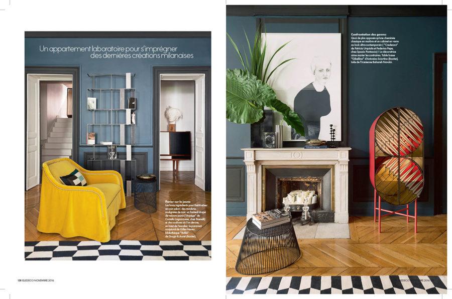 parutions elle decoration claude cartier d coration. Black Bedroom Furniture Sets. Home Design Ideas