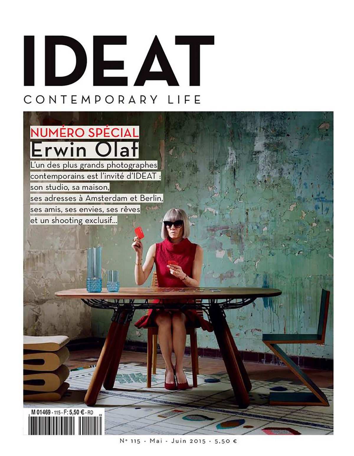 Parution presse IDEAT 2015 Claude Cartier décoration architecte d'intérieur à Lyon.