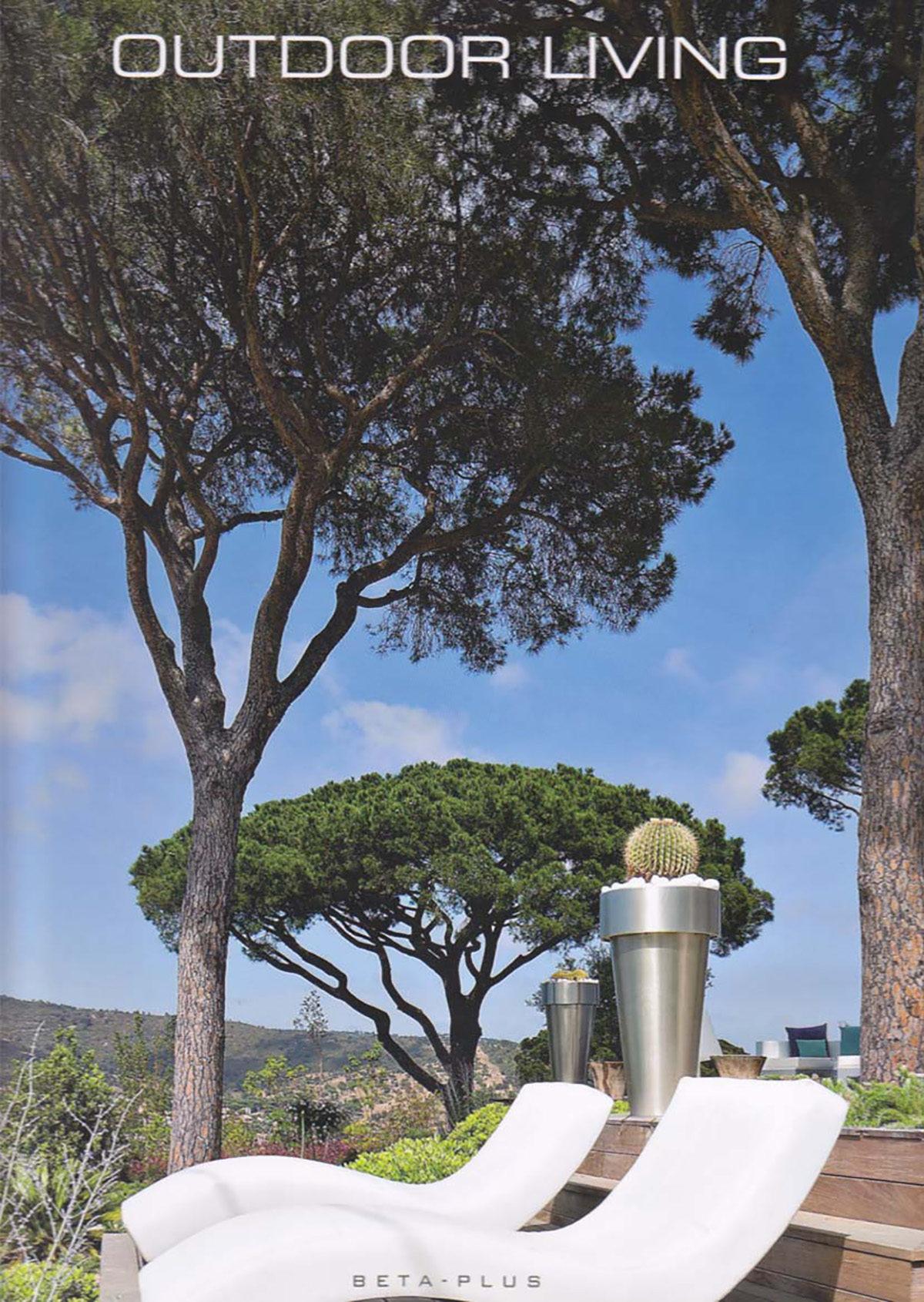 Parution presse OUTDOOR LIVING 2012 Claude Cartier décoration architecte d'intérieur à Lyon.