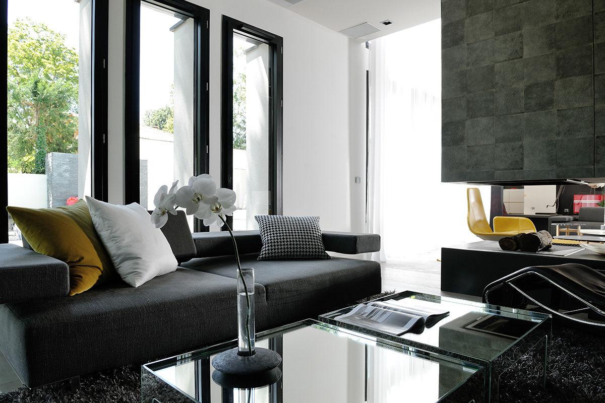 Réalisation résidentiel Claude Cartier décoration architecte d'intérieur à Lyon.