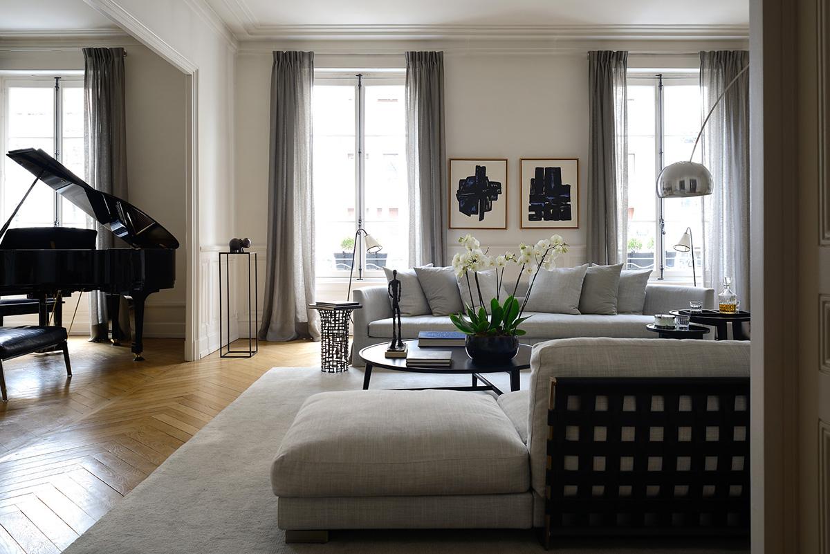 r alisations appartement claude cartier d coration. Black Bedroom Furniture Sets. Home Design Ideas