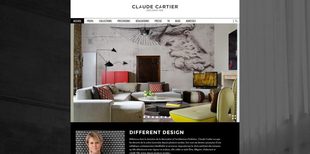 Nouveau site internet. Actualité Claude Cartier décoration architecte d'intérieur à Lyon.
